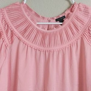 Ann Taylor Tops - Ann Taylor blush pink smocked neck top or tee